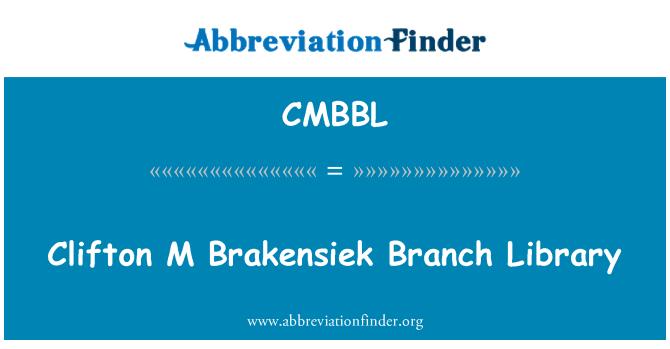 CMBBL: Clifton M Brakensiek Branch Library