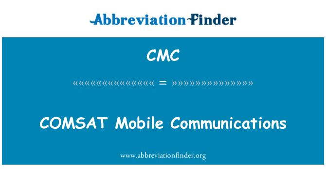 CMC: COMSAT Mobile Communications
