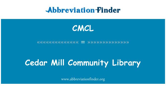 CMCL: Biblioteca de la comunidad de Cedar Mill