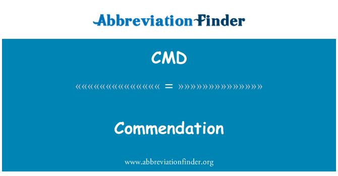 CMD: Commendation