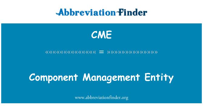 CME: Component Management Entity