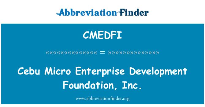 CMEDFI: Cebu Micro Enterprise Development Foundation, Inc.