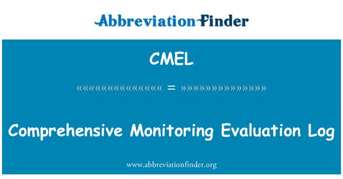 CMEL: Comprehensive Monitoring Evaluation Log