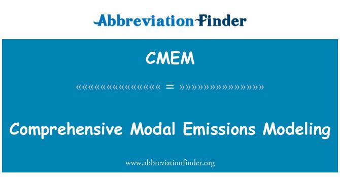 CMEM: Comprehensive Modal Emissions Modeling