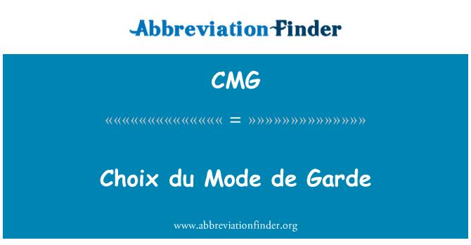 CMG: Choix du Mode de Garde