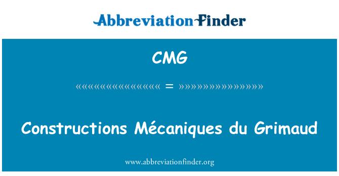 CMG: Constructions Mécaniques du Grimaud