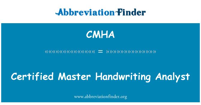CMHA: Sertifitseeritud Master käsitsikirja analüütik