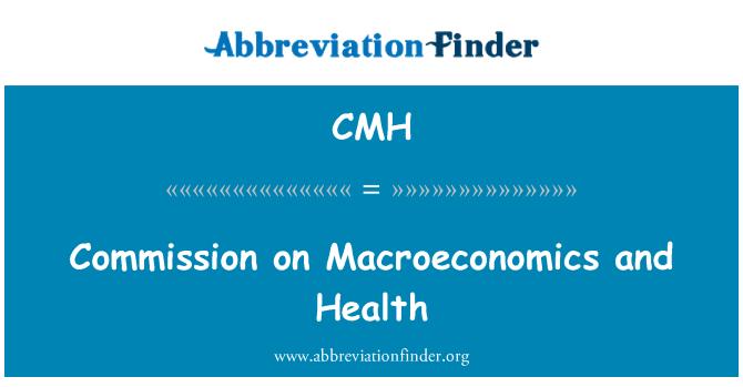 CMH: Commission on Macroeconomics and Health
