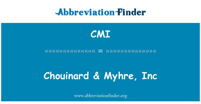 CMI: Chouinard & Myhre, Inc
