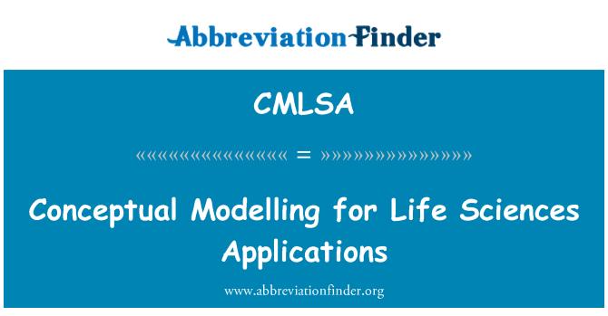 CMLSA: Conceptual para aplicaciones de Ciencias de la vida