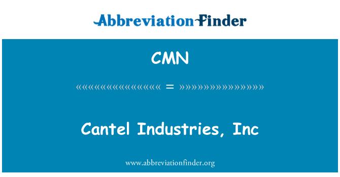 CMN: Cantel Industries, Inc
