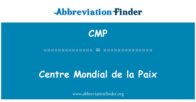 CMP: Centre Mondial de la Paix