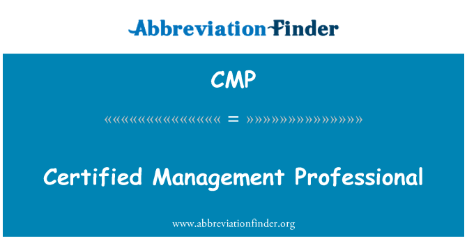 CMP: Certified Management Professional
