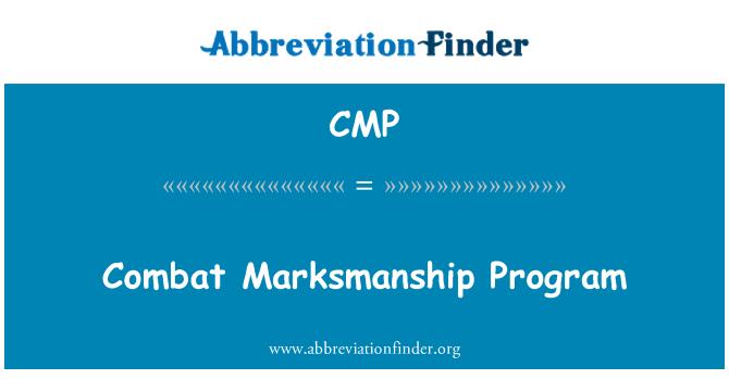 CMP: Combat Marksmanship Program