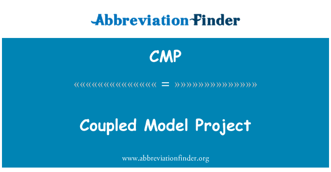 CMP: Coupled Model Project