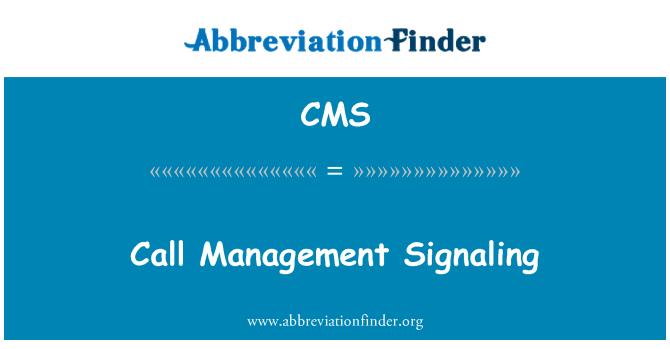 CMS: Kõne juhtimine signalisatsiooni