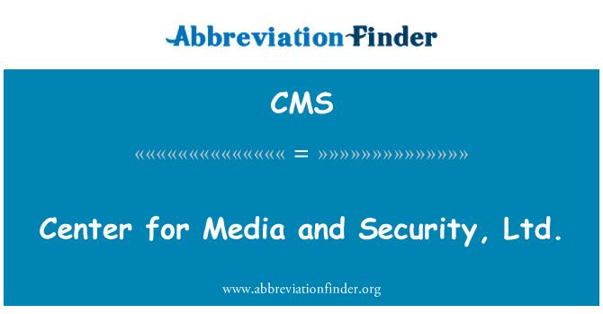 CMS: Center meedia ja turvalisus, OÜ