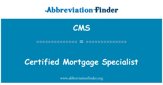 CMS: Sertifitseeritud hüpoteegi spetsialist