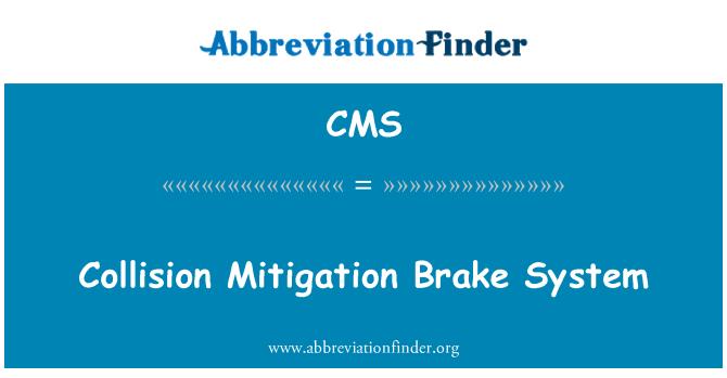 CMS: Kokkupõrke leevendamise piduri süsteemi
