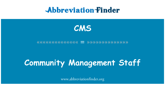 CMS: Personal de administración de la comunidad