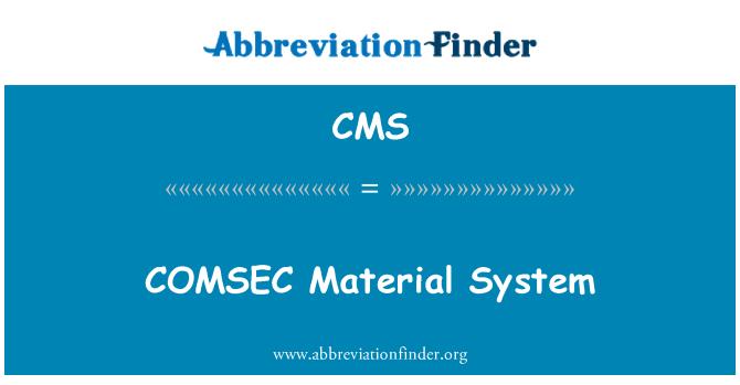 CMS: Sistema Material de COMSEC