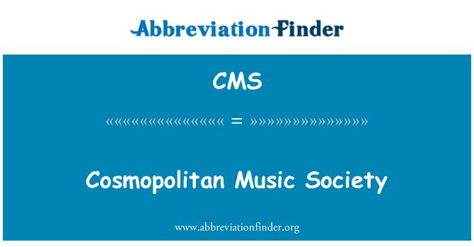 CMS: Ühiskond kosmopoliitses muusika