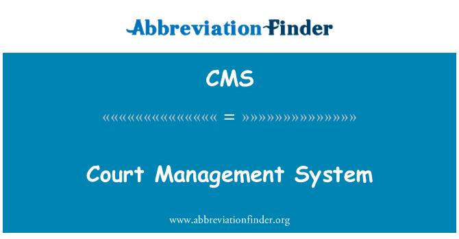 CMS: Kohtute haldamise süsteem