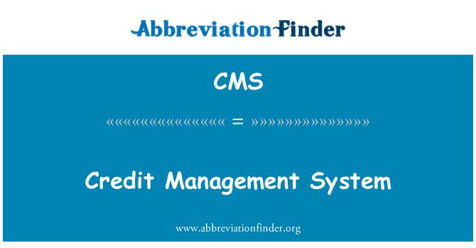 CMS: Krediidiriski juhtimise süsteemi