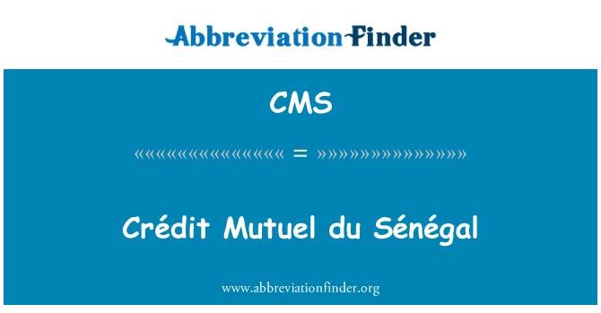 CMS: Crédit Mutuel du Sénégal
