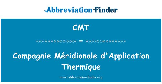CMT: Compagnie Méridionale d'Application Thermique