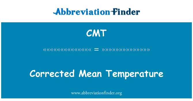 CMT: Corrected Mean Temperature