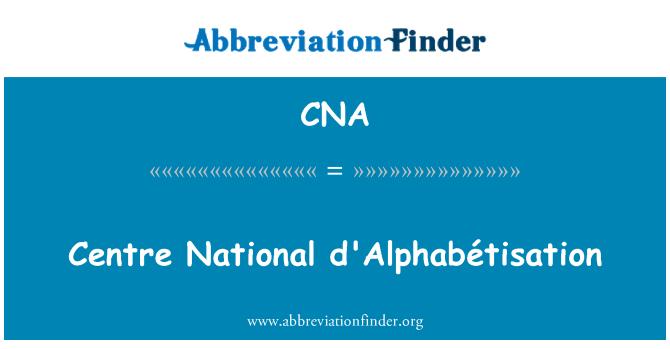 CNA: Centre National d'Alphabétisation