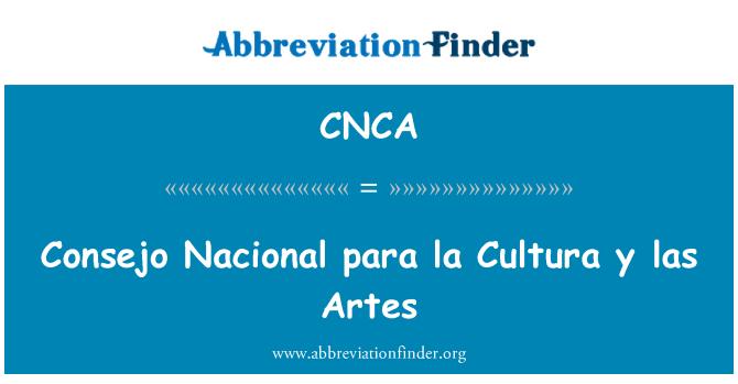 CNCA: Consejo Nacional para la Cultura y las Artes