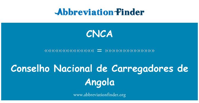 CNCA: Conselho Nacional de Carregadores de Angola