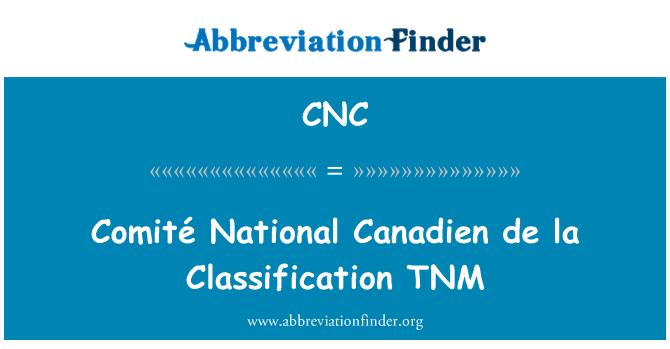 CNC: Comité National Canadien de la Classification TNM