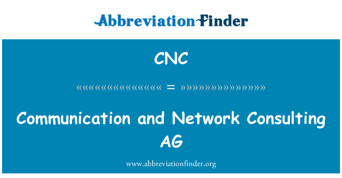 CNC: Communication and Network Consulting AG