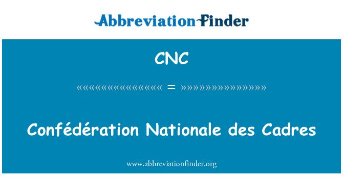 CNC: Confédération Nationale des Cadres