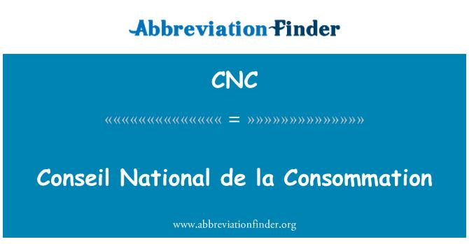 CNC: Conseil National de la Consommation