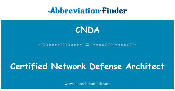CNDA: Certified Network Defense Architect