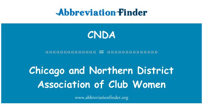 CNDA: Chicago y Distrito Norte Asociación de mujeres de Club