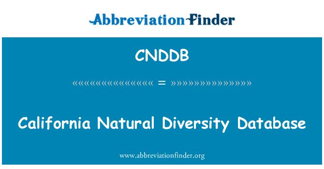 CNDDB: California Natural Diversity Database