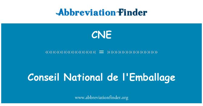 CNE: Conseil National de l'Emballage