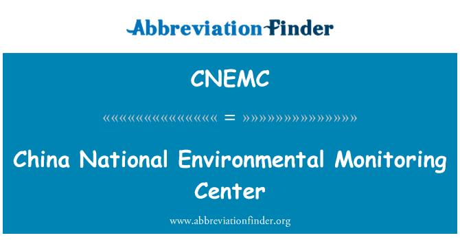 CNEMC: China National Environmental Monitoring Center