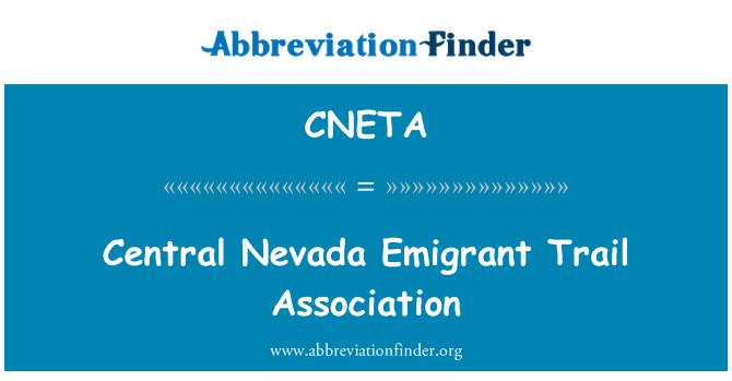 CNETA: Central Nevada Emigrant Trail Association