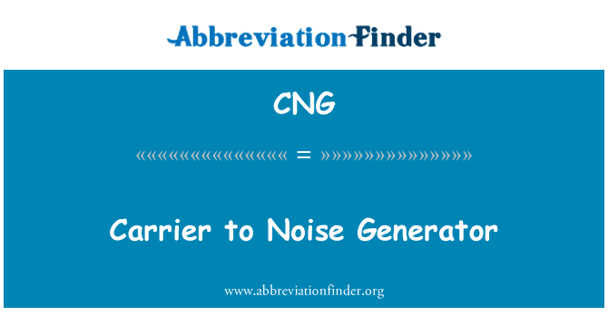 CNG: Carrier to Noise Generator