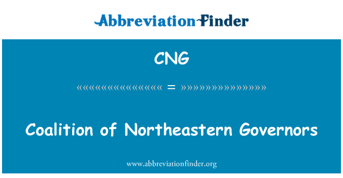 CNG: Coalition of Northeastern Governors