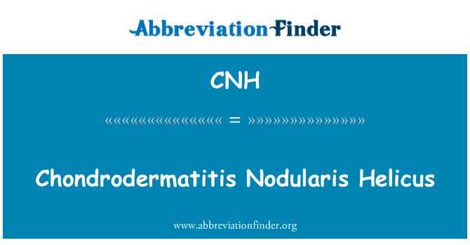 CNH: Chondrodermatitis Nodularis Helicus