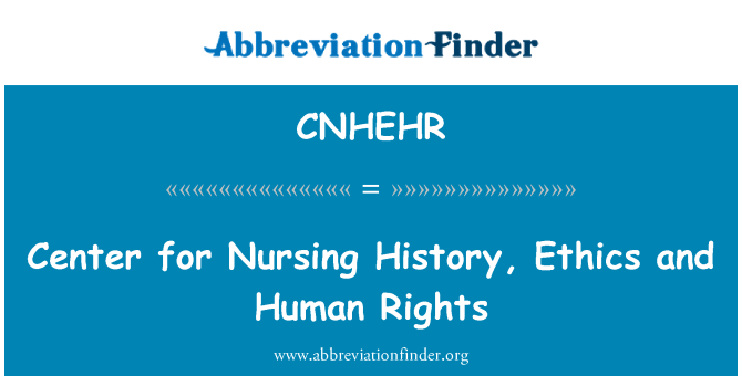 CNHEHR: Center for Nursing History, Ethics and Human Rights
