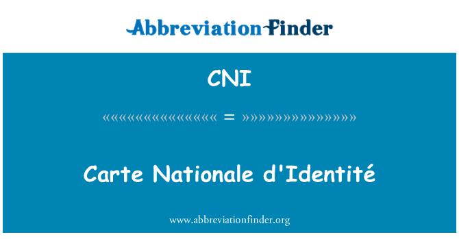 CNI: Carte Nationale d'Identité