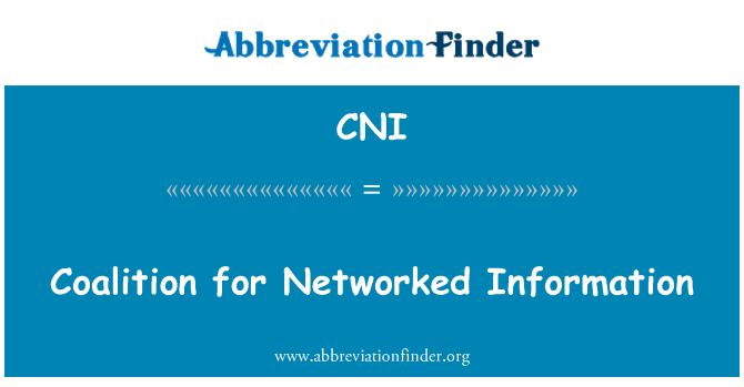 CNI: Coalition for Networked Information